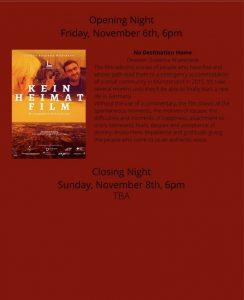 KEINHEIMATFILM Eröffnungs- und Abschlußfilm beim Pembroke Taparelli International Art & Film Festival 2020!!!